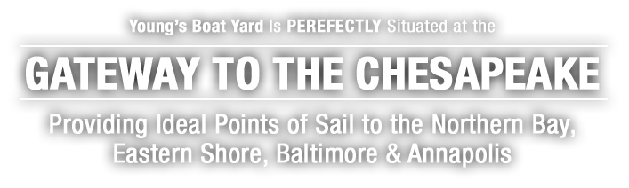 Young's Boat Yard IS Situated At the Gateway To the Chesapeake