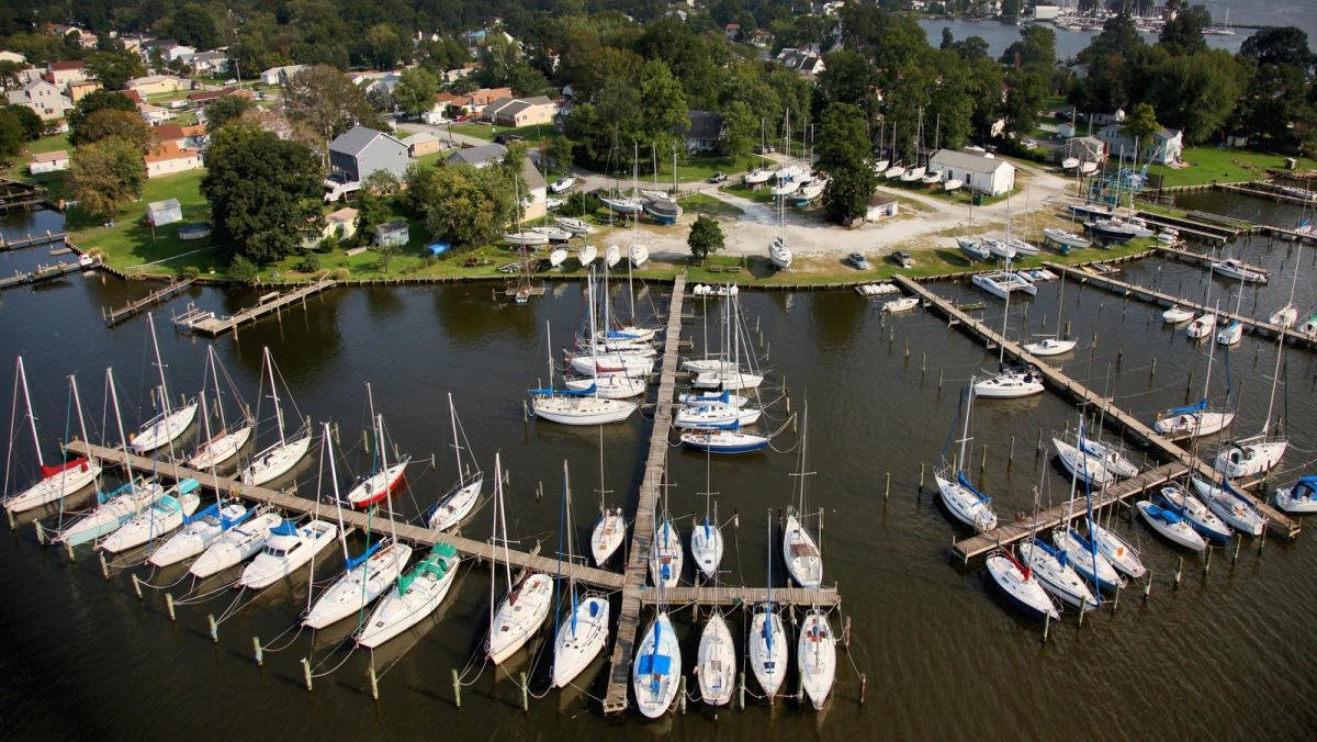 Young's Boat Yard & Jones Creek From The Air