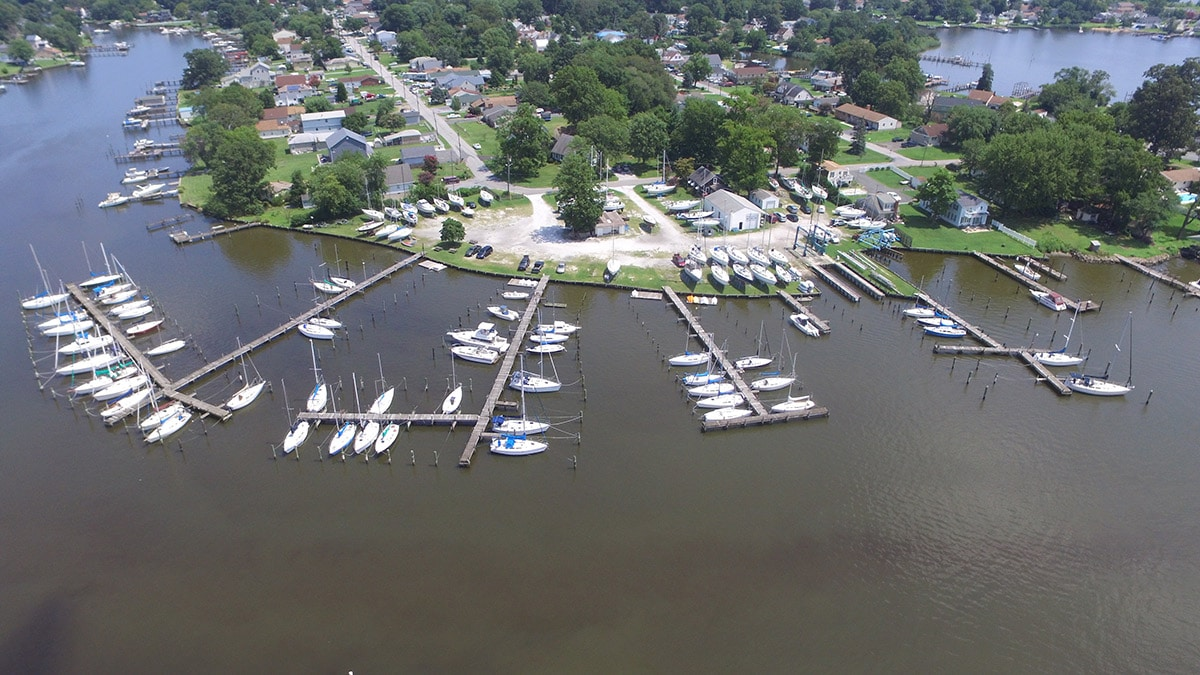 2016 Young's BoatYard Aerial View